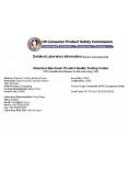 美国CPSC认可证书 CPSC Recognized Certifi...