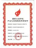 国家火炬计划产业化环境建设项目证书...